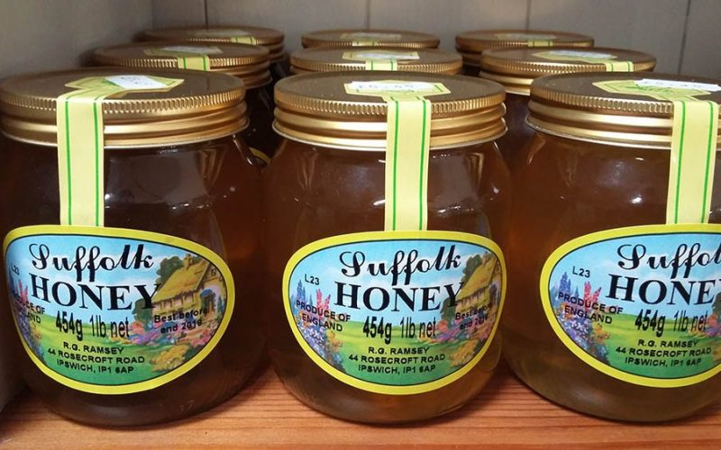 Suffolk honey at Kiln Farm