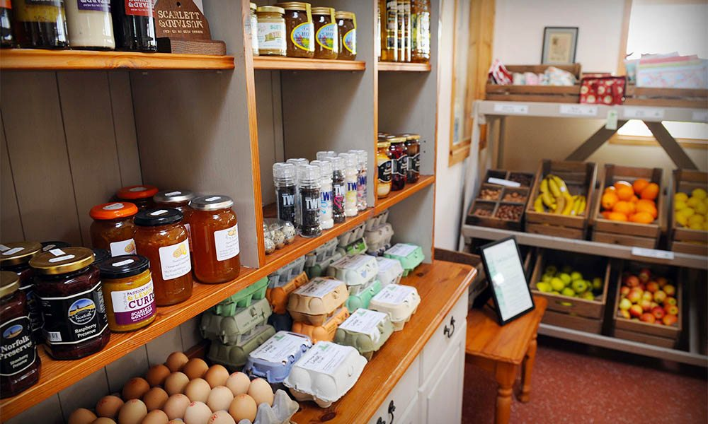 The farm shop at Kiln Farm Nursery