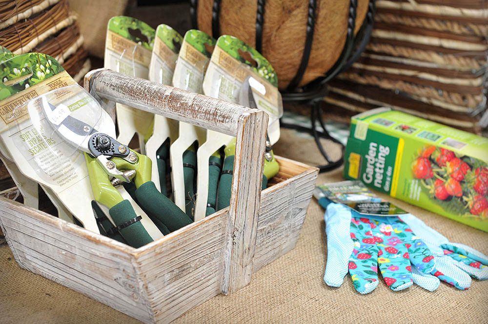 secateurs and garden gloves at Kiln Farm