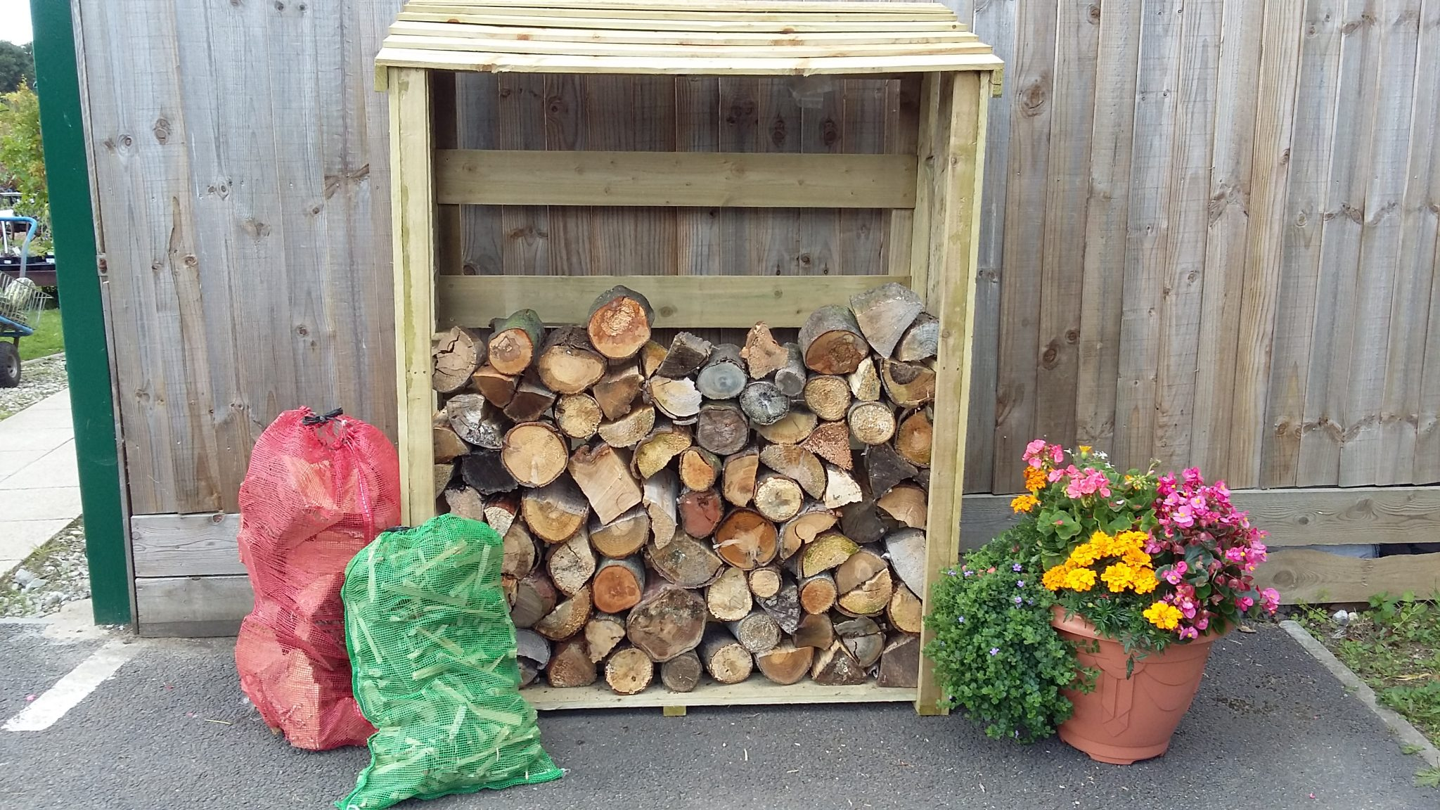 We sell log stores. Available in two sizes.