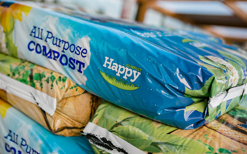 Bags of happy compost